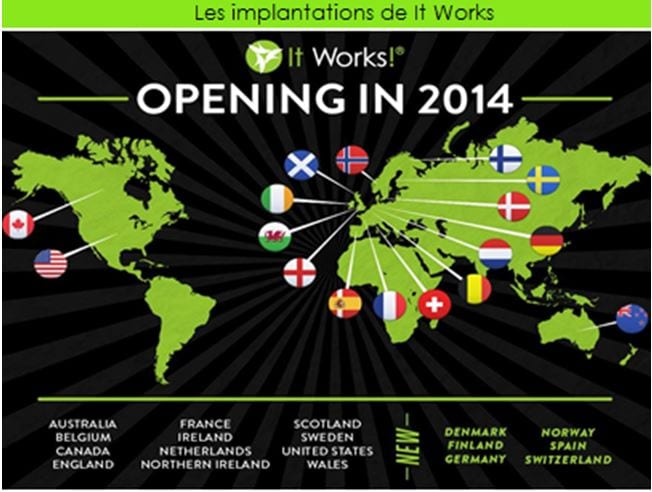1er Aout 2012 : Introduction de la société It Works en france