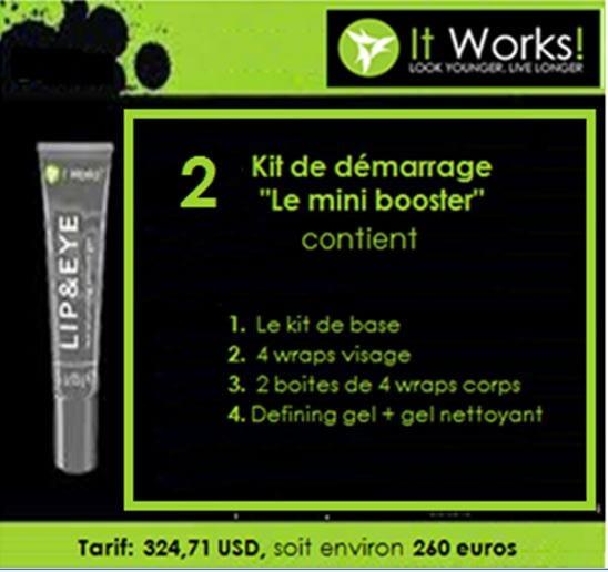 """Kit de démarrage """"mini booster"""" de l'entreprise ItWorks"""