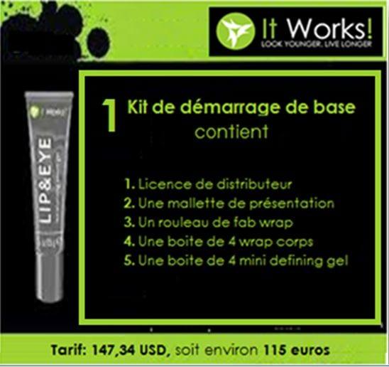 Kit de démarrage de base de l'entreprise ItWorks
