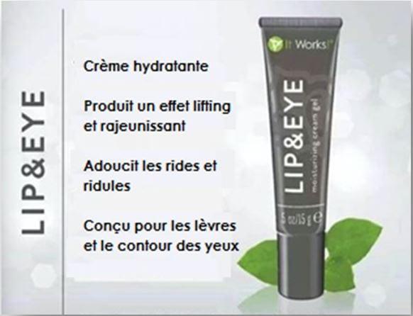 ItWorks et son produit pour visage : Lip & Eye